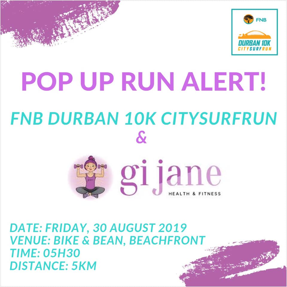 Durban10K Pop Up Runs